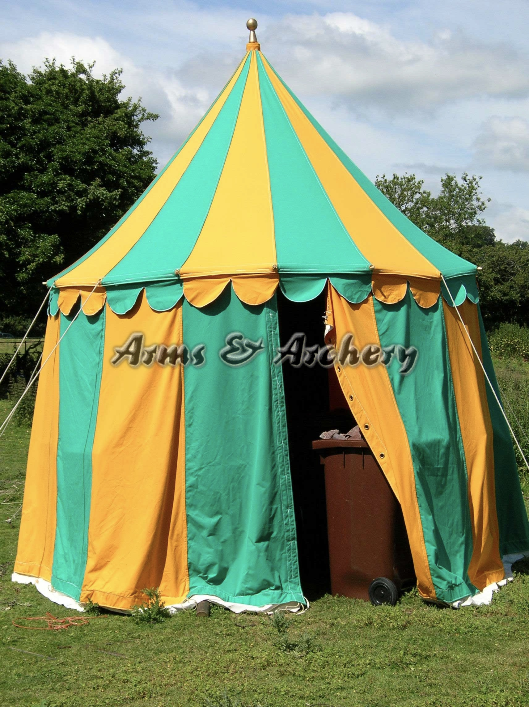 15ft diameter panel tent & Arms and Archery - Medieval Armour Suits / Medieval Weaponry ...